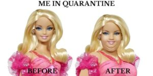 Barbie in quarantaine